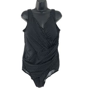 Miraclesuit One Piece Swimsuit Polka Dot Black